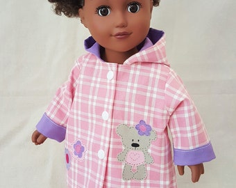 """18"""" Doll Raincoat with Applique"""