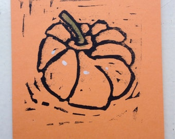 Note card--Pumpkin