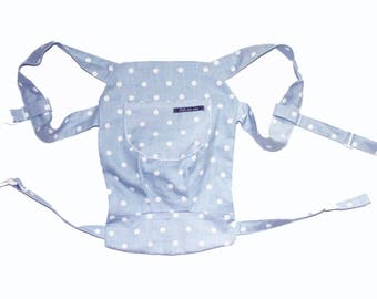 Doll Bear/Doll backpack dots light blue
