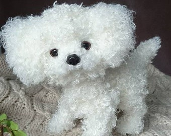 Dog portrait, poseable soft sculpture, art doll, stuffed animals, collectable