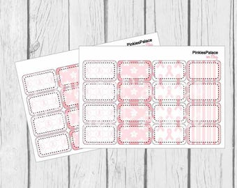 Breast Cancer Awareness Half Box Stickers Planner Stickers PS219b