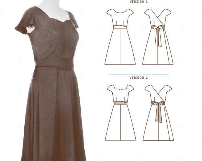 Crepe Dress Pattern by Collette Patterns