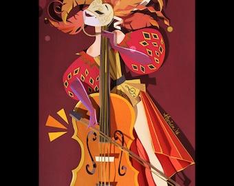 The Cello Original Artwork - Inquire