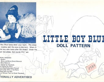 "Vntg Little Boy Blue Doll Pattern, 17 1/2"" Doll, UNCUT"