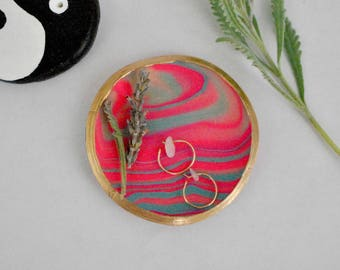 Marbled Ring Dish Trinket Dish Jewelry Dish Handmade Gift For Her Bridesmaid Gift Wedding Gift Marbled Clay Ring Holder Bohemian Home Decor