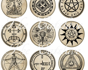 Pagan Pins Magnets Alchemy Symbols Party Favors Wedding Favors Gift Sets