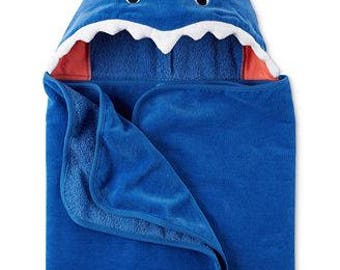 Personalized Carter's Shark Towel with Hood