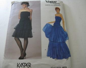 Vogue Vintage Pattern Kasper 1623 Gown Size 12