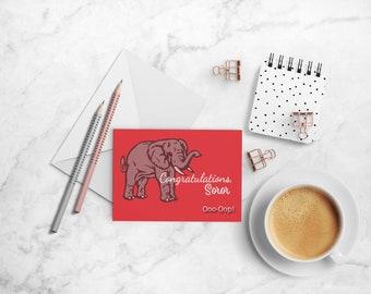 Congratulations Soror Note Card Set, Delta Sigma Theta Sorority-inspired A2 Folded Cards