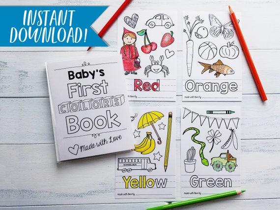 Colors Coloring Book / PDF Download / Coloring Sheets / DIY Baby ...