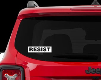 RESIST - Car Decal, laptop decal, window decal - BF-D1043