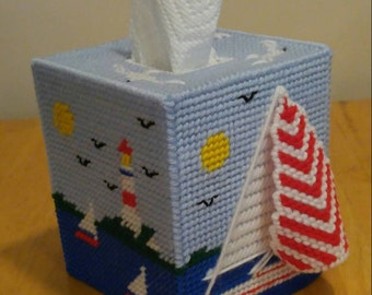 Summer Time Sailing- Tissue Topper