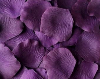 Purple silk petals etsy amethyst purple rose petals purple silk rose petals fake rose petals diy rose petal aisle runner flower girl petals wedding petals mightylinksfo
