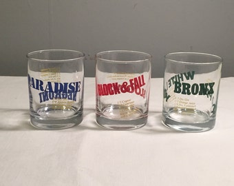 Vintage Rocks Glasses with Drink Recipes - Collectible Rocks Glasses
