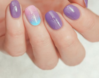 Cosmos - Custom Galaxy Purple Creme Nail Polish