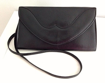 Vintage 80s Black Schoulder Bag Handbag