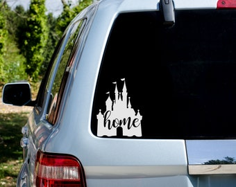 Disney Castle - Disney Home - Disney Fan - Vehicle Decal, Wall Decal