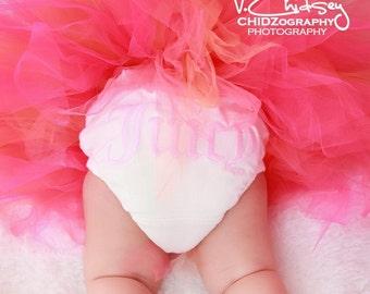 Baby Tutu, Coral Tutu, Pink Tutu, Fuchsia Hot Pink Coral Orange, CORAL BEAUTY, 8'' Pixie Tutu Set, Newborn Photo Prop Tutu, Tutu w/ Headband