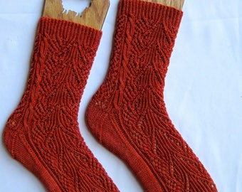 Knit Sock Pattern:  Otaro Cable Lace Socks Knitting Pattern