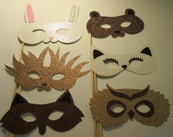 Woodland Creatures photo booth Props great for birthdays, baby showers and more!