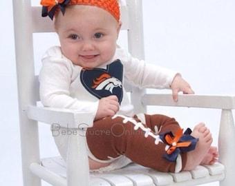 Denver Broncos Bodysuit Headband and Leg Warmers