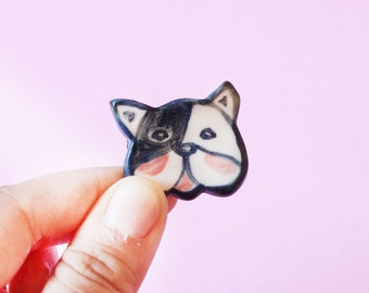 Dog Porcelain Ceramic Pin