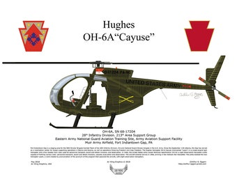 Made in USA, Hughes OH-6A 68 17204