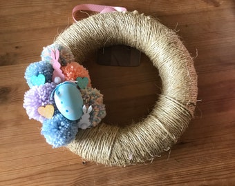 Large Occasion Pom Pom Wreath