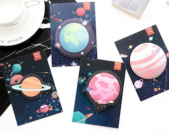 Cute Planet Sticky Notes