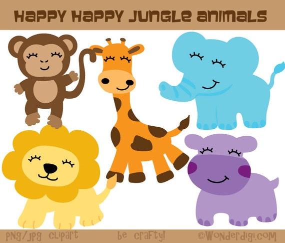 Jungle Animals Clipart Safari Animals Clip Art Zoo Animals