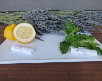 Organic Lavender lip balm - lavender lemonade and lavender mint!  Luxurious natural lip care.