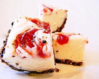 Julie's Fudge - Strawberry CHEESECAKE With Oreo & Graham Cracker Crust - Over One Pound