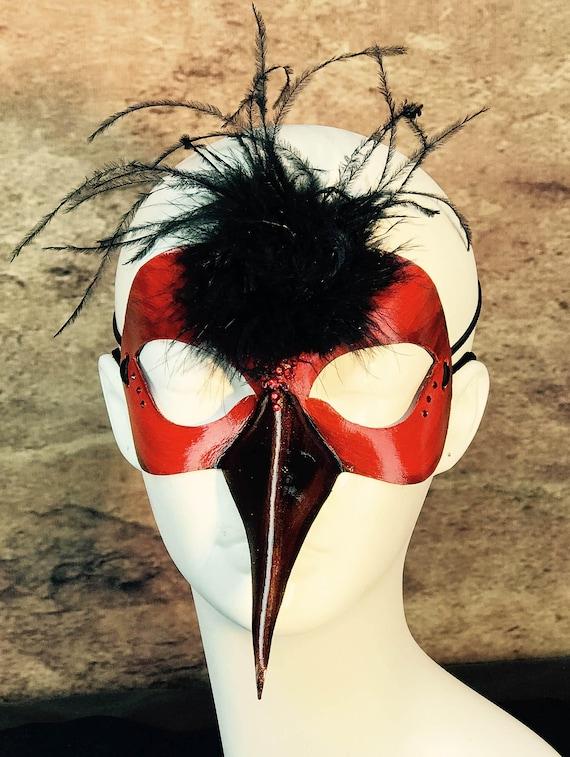 Mayzie Bird Leather Mask