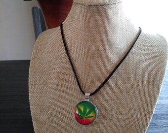 Rastafarian Pot Leaf Necklace