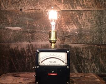 Analog Voltmeter Lamp - Industrial Lighting Edison Table Lamp