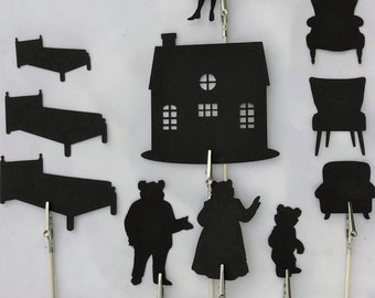 Goldilocks and the Three Bears Shadow Puppets