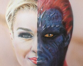Portrait airbrush Mystique X-Men