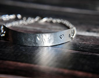 Memorial Gift - Custom Memorial Bracelet - Memorial Jewelry - Personalized Jewelry - Loss of Child Gift - Secret Message - Loss of Loved One