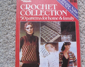 Golden Hands Book -Crochet Collection - 50 Patterns for home & family - Vintage 1974