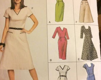 UNCUT Vogue 7688 Misses' Dresses size 12-14-16, Bust 34-38 inches UNCUT Complete Sewing Pattern