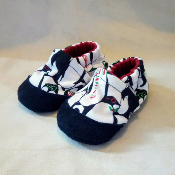 Holiday Penguins: Soft Sole Baby Shoes 6-12M