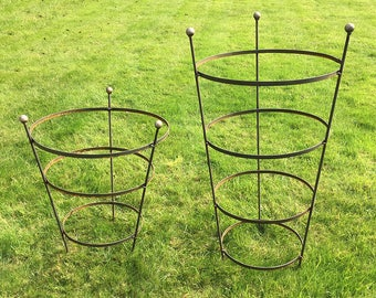 Rusty Peony Cage - Plant Support - In 2 sizes