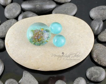 Aruba Waters Set - Lampwork Glass Cabochon - 16mm - Jewelry Making Supply