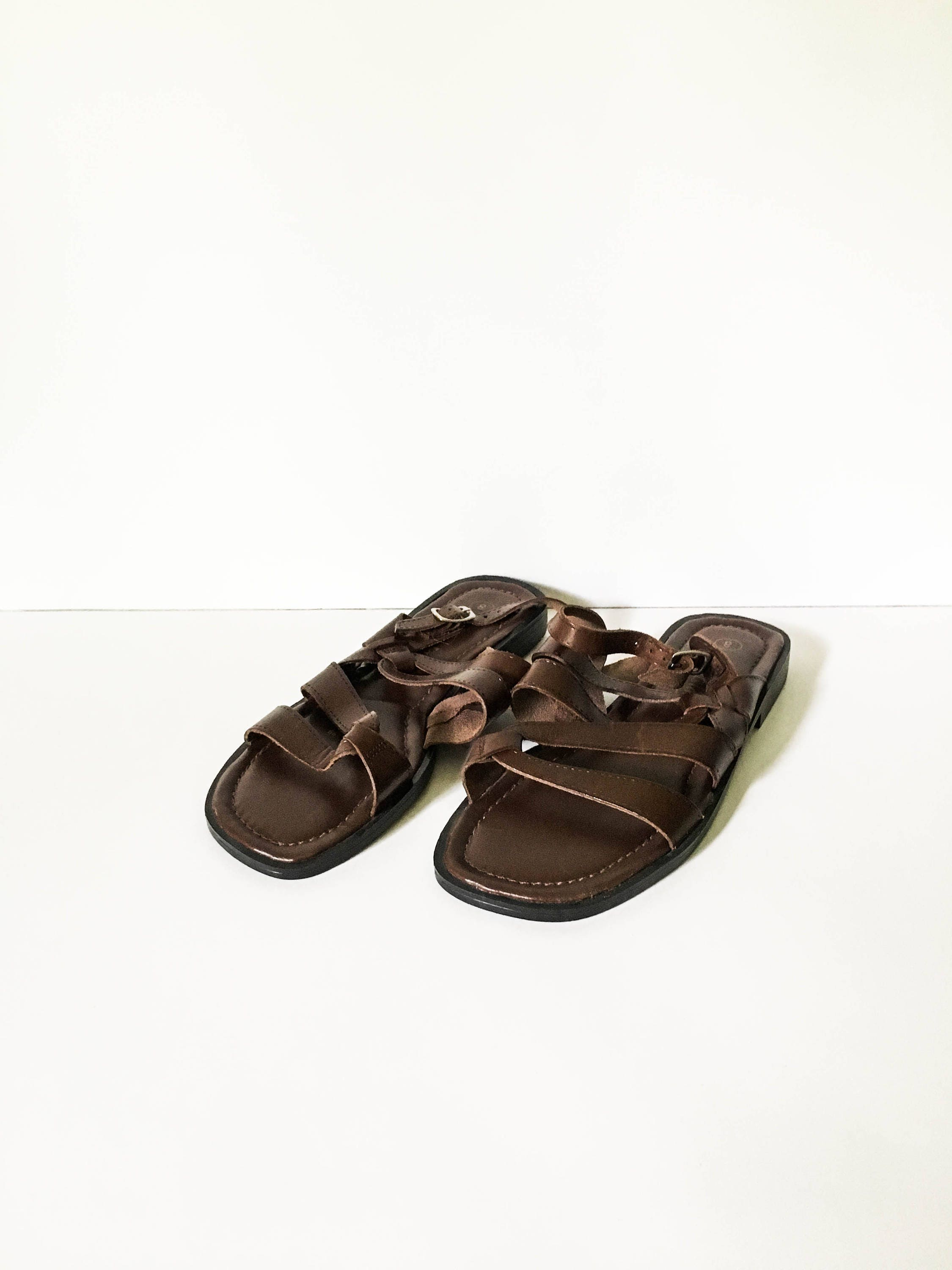 Leather strappy sandal sz 8 leather sandals minimalist zoom nvjuhfo Image collections
