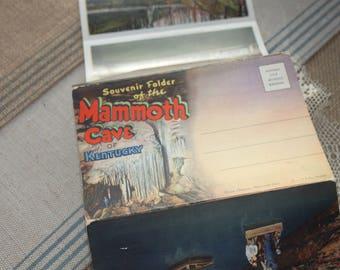 Vintage folding set of postcards of Kentucky, Souvenif Folder of the Mammoth Cave of Kentucky 18 photos,