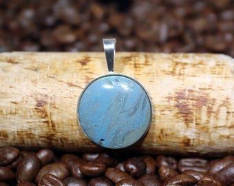 Leland Blue in a Sterling Silver Bezel