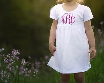 Monogram toddler dress, Monogram baby dress, monogram baby girl dress, toddler dress, baby dress, flower girl dress, toddler monogram