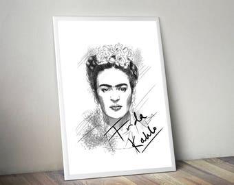 Frida Khalo Gliceé Art/Canvas Print [Limited Edition]