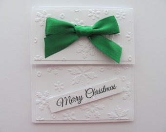 Christmas Gift Card Holders,Snowflake Gift Card Envelopes, Gift Cards,  Money Holders, Holiday Gift Card Holders, Snowflakes, Embossed Cards