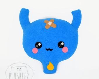 Urinary bladder plushie / organ shaped comfort pillow/ cushion